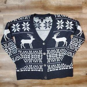 Holiday Grandpa Style Cardigan Sweater